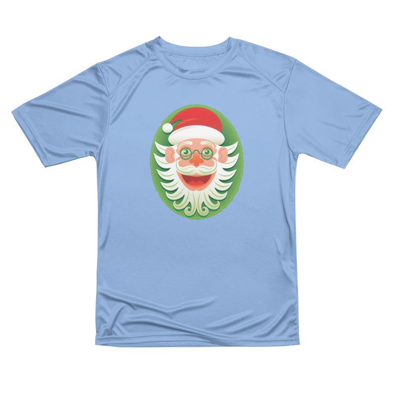 Smiling Santa Claus celebrating Christmas in Hipster style Men's T-Shirt by Zoo&co's Artist Shop