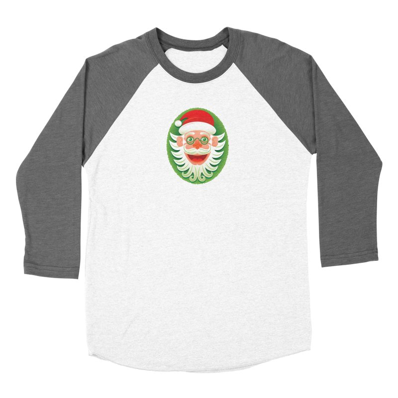 Smiling Santa Claus celebrating Christmas in Hipster style Women's Longsleeve T-Shirt by Zoo&co's Artist Shop