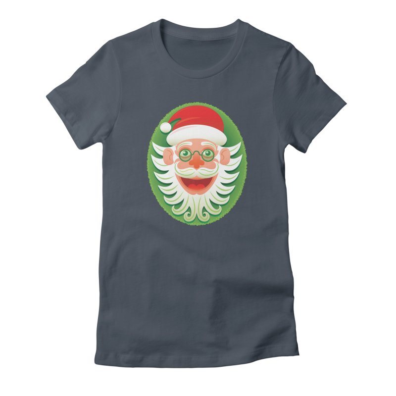Smiling Santa Claus celebrating Christmas in Hipster style Women's T-Shirt by Zoo&co's Artist Shop