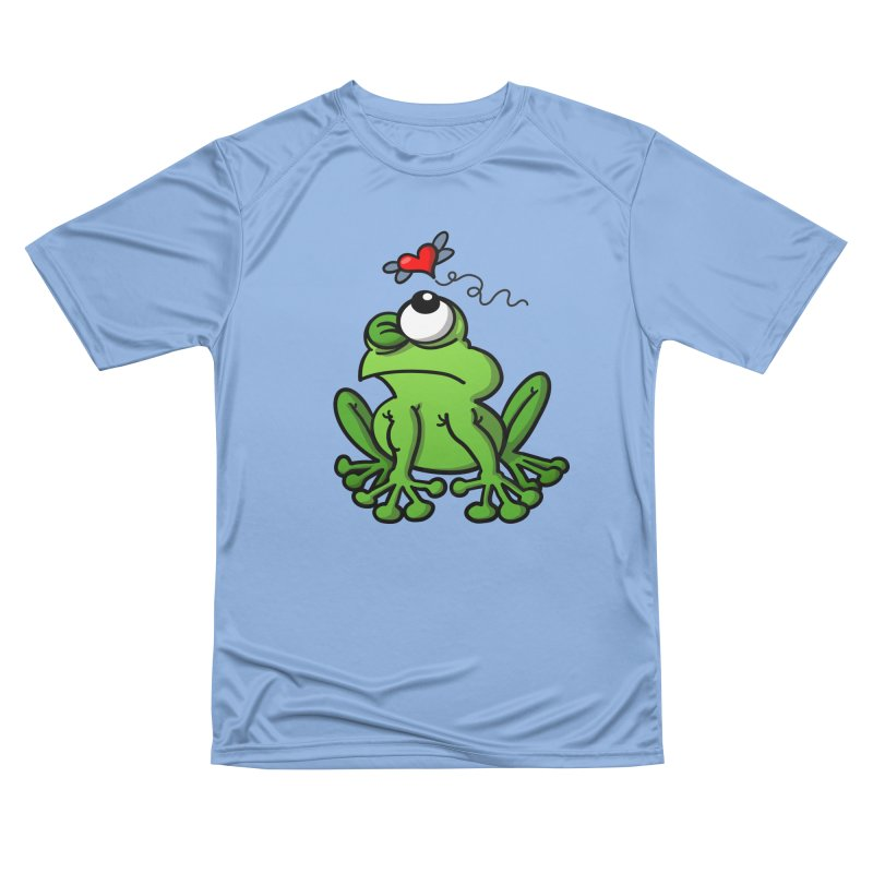 Green frog chasing the mosquito of love Men's T-Shirt by Zoo&co's Artist Shop