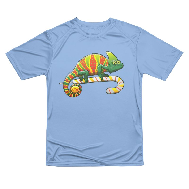 Shy chameleon wearing the perfect camouflage for Christmas Men's T-Shirt by Zoo&co's Artist Shop