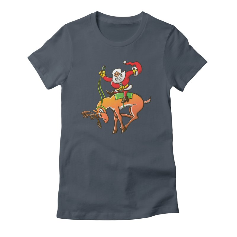 Santa is making this wild reindeer get ready for Christmas Women's T-Shirt by Zoo&co's Artist Shop