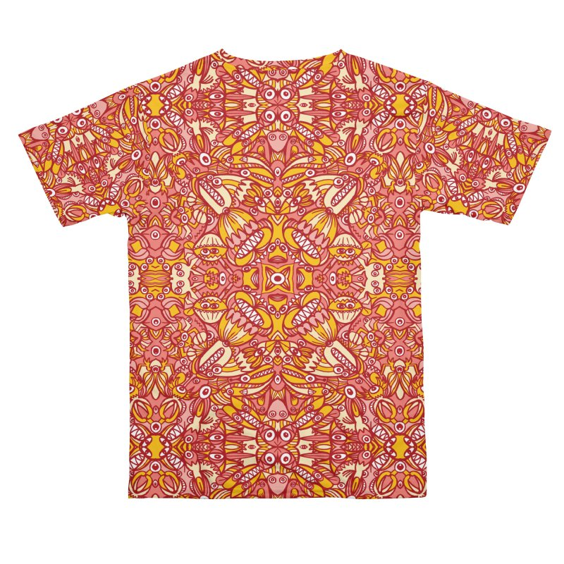 Red and yellow pattern design full of weird fantastic creatures Women's Cut & Sew by Zoo&co's Artist Shop