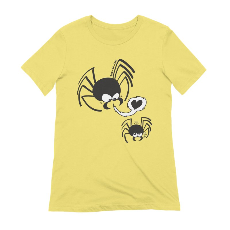 Dangerous love for a male spider Women's T-Shirt by Zoo&co's Artist Shop
