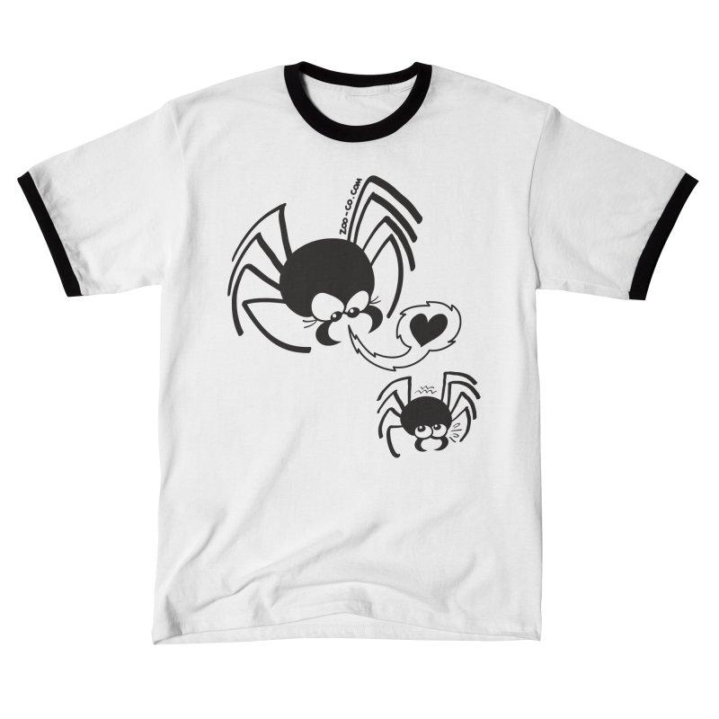 Dangerous love for a male spider Men's T-Shirt by Zoo&co's Artist Shop