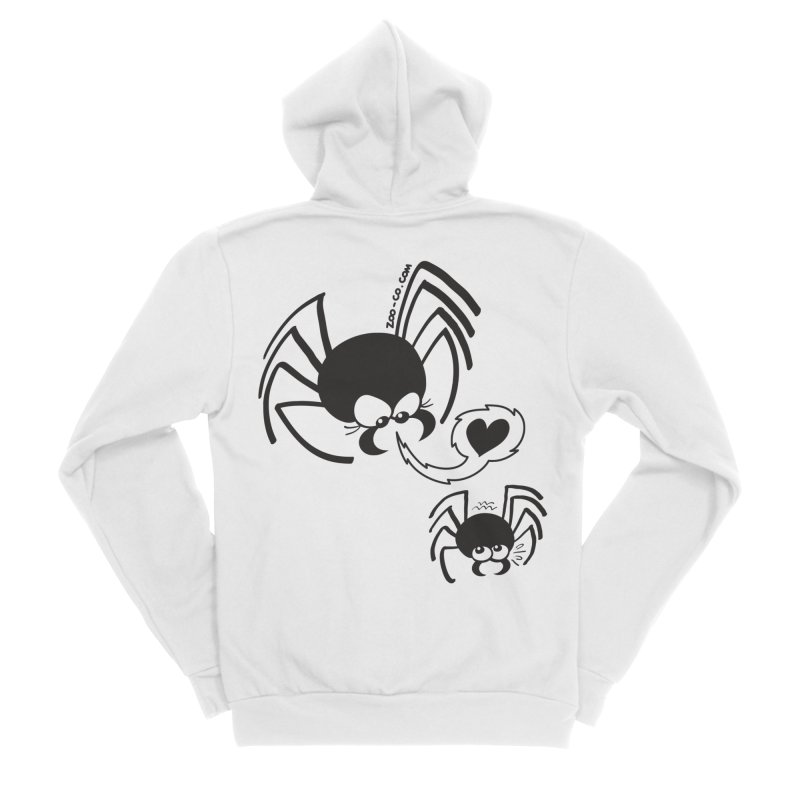 Dangerous love for a male spider Men's Zip-Up Hoody by Zoo&co's Artist Shop