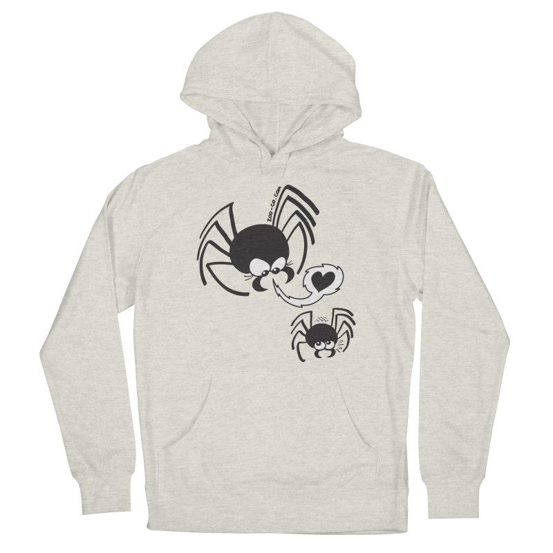 Dangerous love for a male spider Men's Pullover Hoody by Zoo&co's Artist Shop