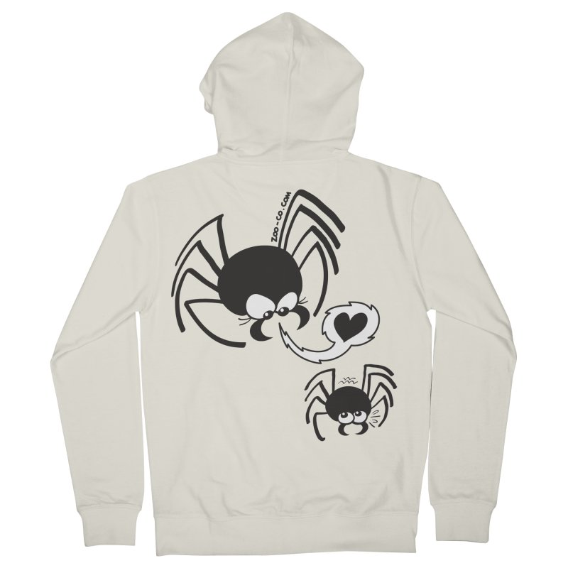 Dangerous love for a male spider Women's Zip-Up Hoody by Zoo&co's Artist Shop