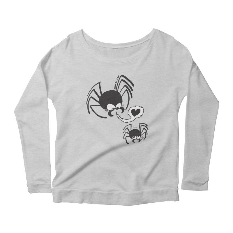Dangerous love for a male spider Women's Longsleeve T-Shirt by Zoo&co's Artist Shop
