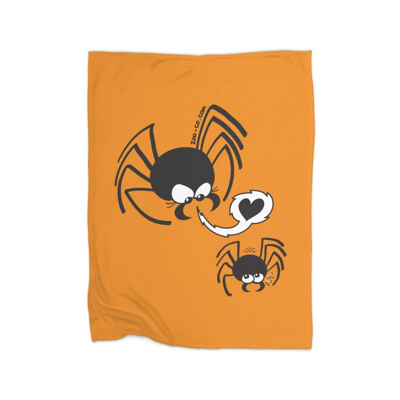 Dangerous love for a male spider Home Blanket by Zoo&co's Artist Shop