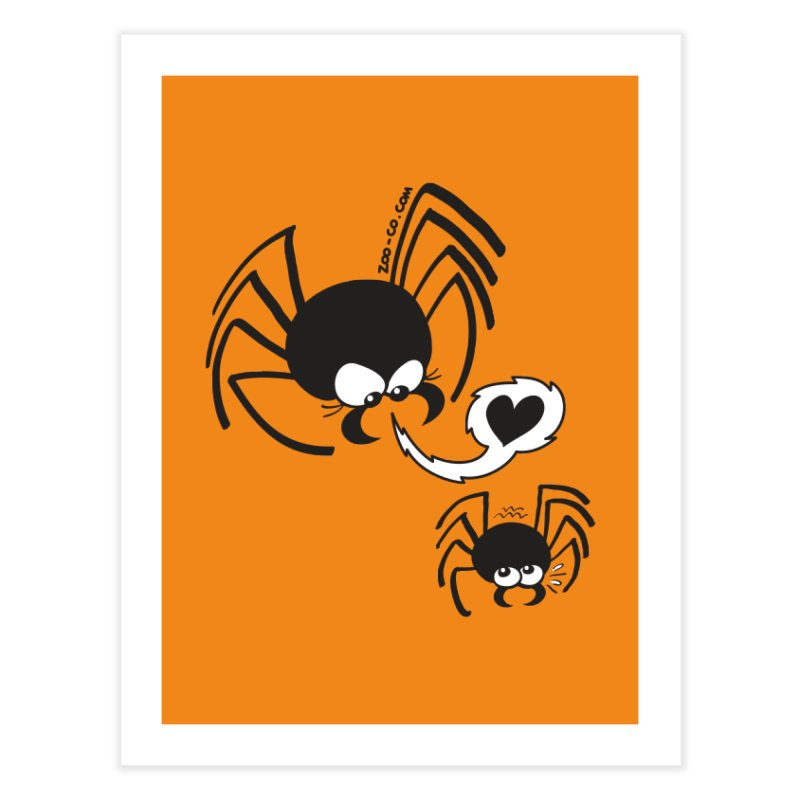 Dangerous love for a male spider Home Fine Art Print by Zoo&co's Artist Shop