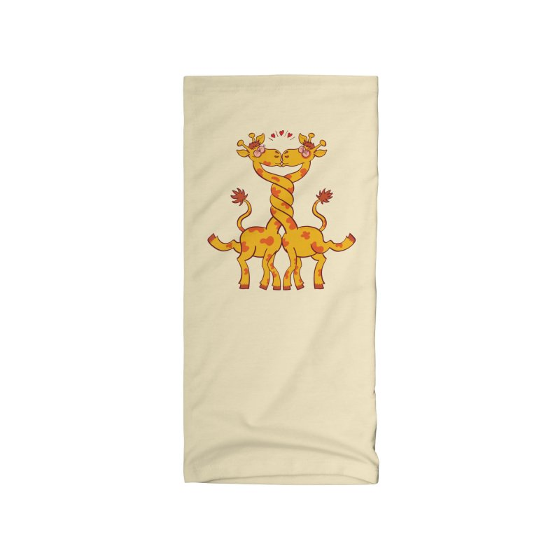 Sweet couple of giraffes in love intertwining necks and kissing Accessories Neck Gaiter by Zoo&co's Artist Shop