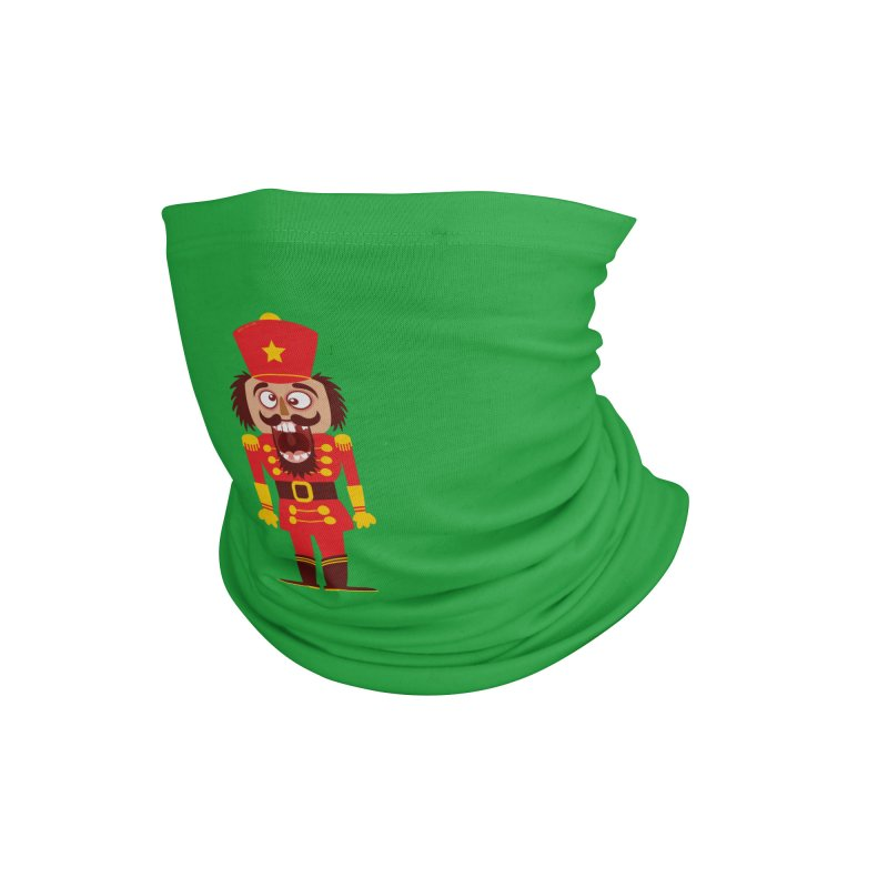 A Christmas nutcracker breaks its teeth and goes nuts Accessories Neck Gaiter by Zoo&co's Artist Shop
