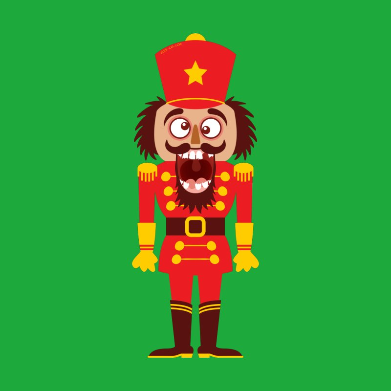 A Christmas nutcracker breaks its teeth and goes nuts Kids Baby T-Shirt by Zoo&co's Artist Shop