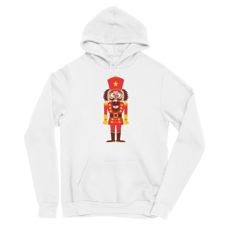 A Christmas nutcracker breaks its teeth and goes nuts Men's Pullover Hoody by Zoo&co's Artist Shop