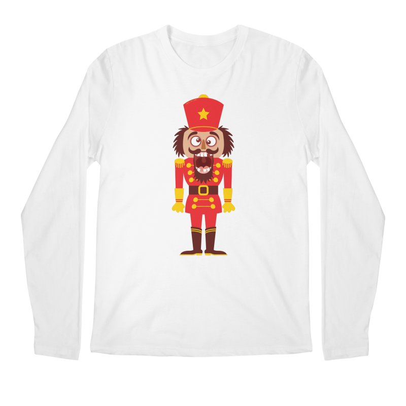 A Christmas nutcracker breaks its teeth and goes nuts Men's Longsleeve T-Shirt by Zoo&co's Artist Shop