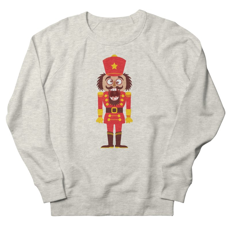 A Christmas nutcracker breaks its teeth and goes nuts Men's Sweatshirt by Zoo&co's Artist Shop