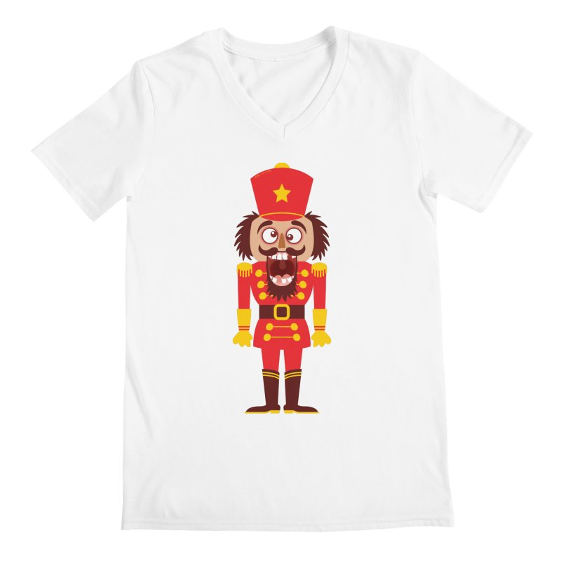 A Christmas nutcracker breaks its teeth and goes nuts Men's V-Neck by Zoo&co's Artist Shop