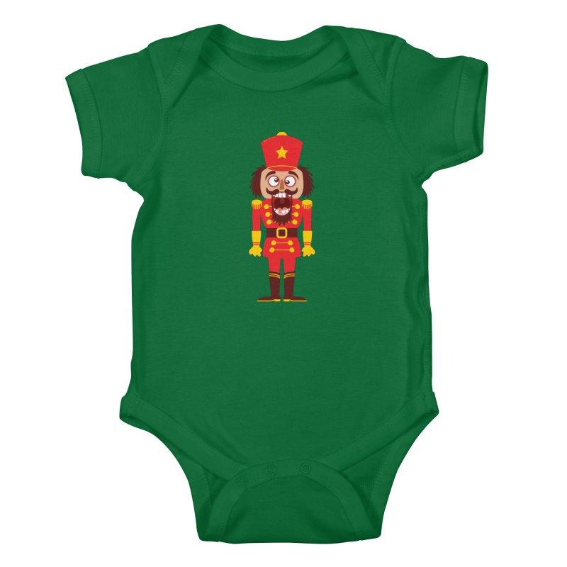 A Christmas nutcracker breaks its teeth and goes nuts Kids Baby Bodysuit by Zoo&co's Artist Shop