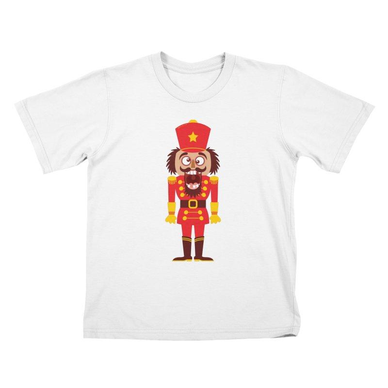 A Christmas nutcracker breaks its teeth and goes nuts Kids T-Shirt by Zoo&co's Artist Shop