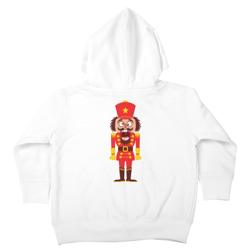 A Christmas nutcracker breaks its teeth and goes nuts Kids Toddler Zip-Up Hoody by Zoo&co's Artist Shop
