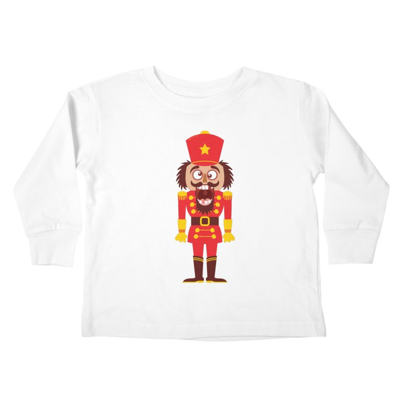 A Christmas nutcracker breaks its teeth and goes nuts Kids Toddler Longsleeve T-Shirt by Zoo&co's Artist Shop