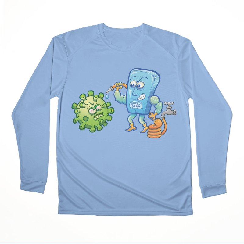Soap and water are still the best way to fight coronavirus. Wash your hands! Women's Longsleeve T-Shirt by Zoo&co's Artist Shop