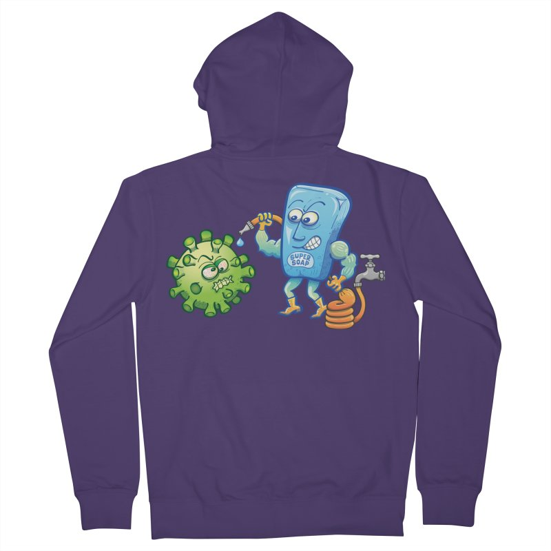 Soap and water are still the best way to fight coronavirus. Wash your hands! Women's Zip-Up Hoody by Zoo&co's Artist Shop