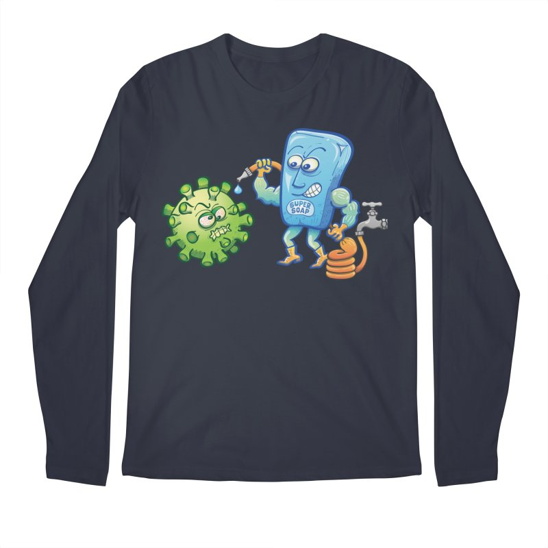 Soap and water are still the best way to fight coronavirus. Wash your hands! Men's Longsleeve T-Shirt by Zoo&co's Artist Shop