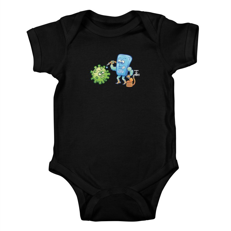 Soap and water are still the best way to fight coronavirus. Wash your hands! Kids Baby Bodysuit by Zoo&co's Artist Shop
