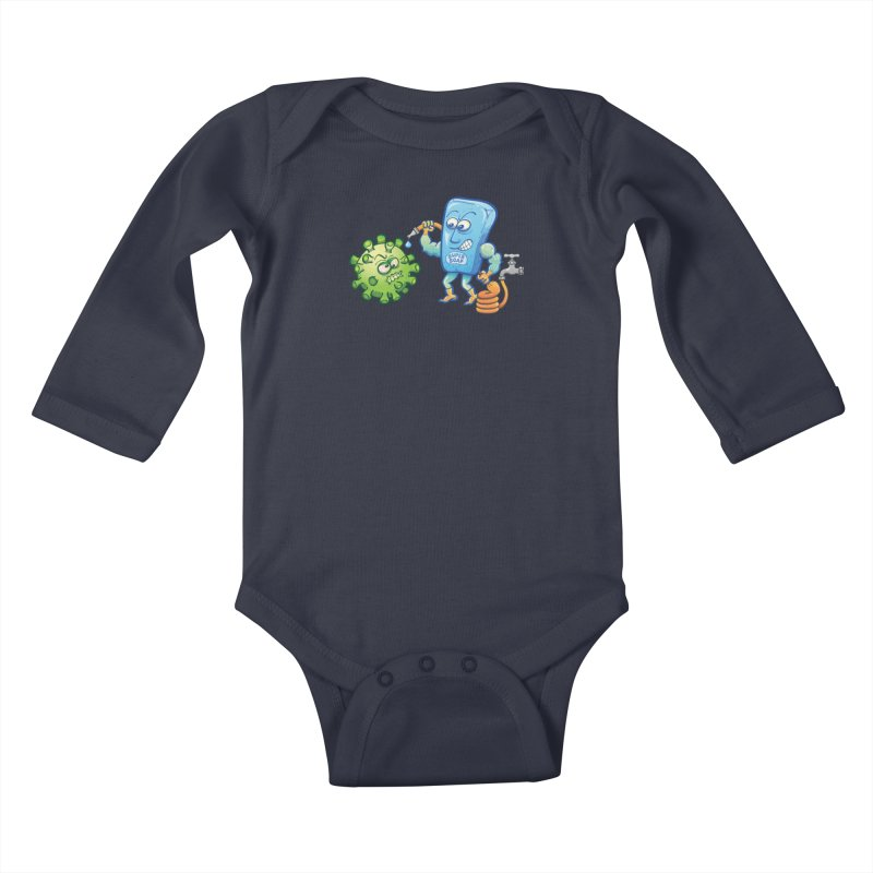 Soap and water are still the best way to fight coronavirus. Wash your hands! Kids Baby Longsleeve Bodysuit by Zoo&co's Artist Shop