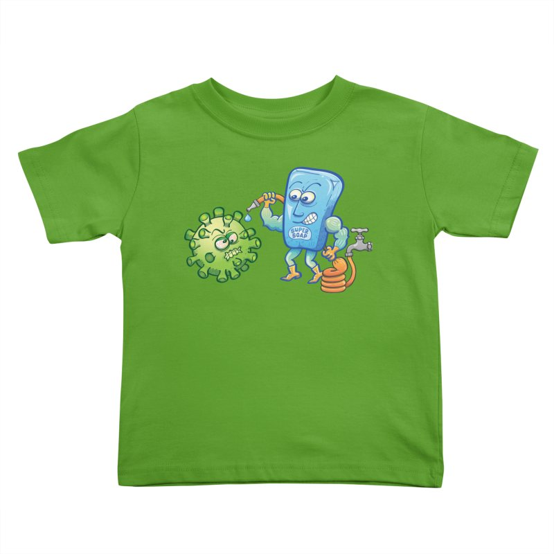 Soap and water are still the best way to fight coronavirus. Wash your hands! Kids Toddler T-Shirt by Zoo&co's Artist Shop