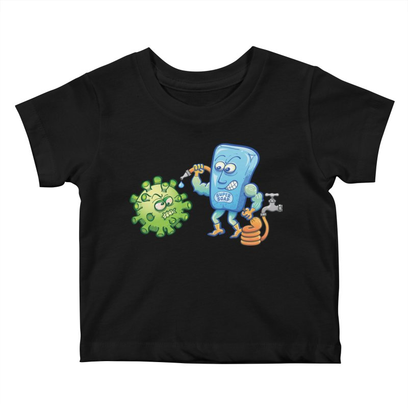 Soap and water are still the best way to fight coronavirus. Wash your hands! Kids Baby T-Shirt by Zoo&co's Artist Shop