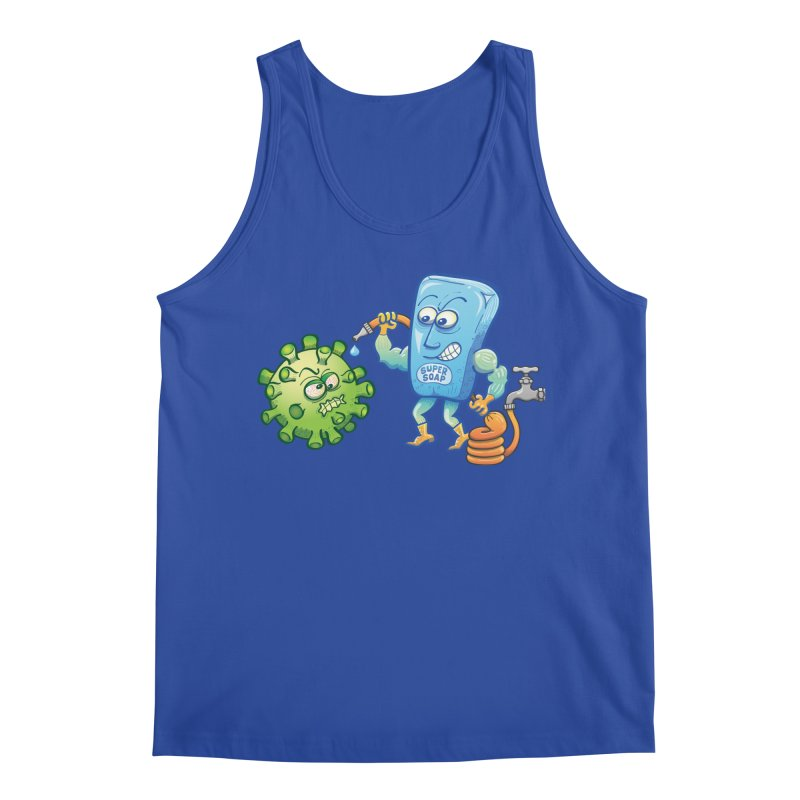 Soap and water are still the best way to fight coronavirus. Wash your hands! Men's Tank by Zoo&co's Artist Shop
