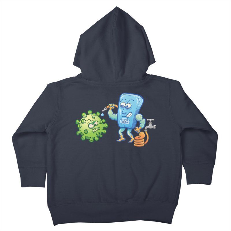 Soap and water are still the best way to fight coronavirus. Wash your hands! Kids Toddler Zip-Up Hoody by Zoo&co's Artist Shop
