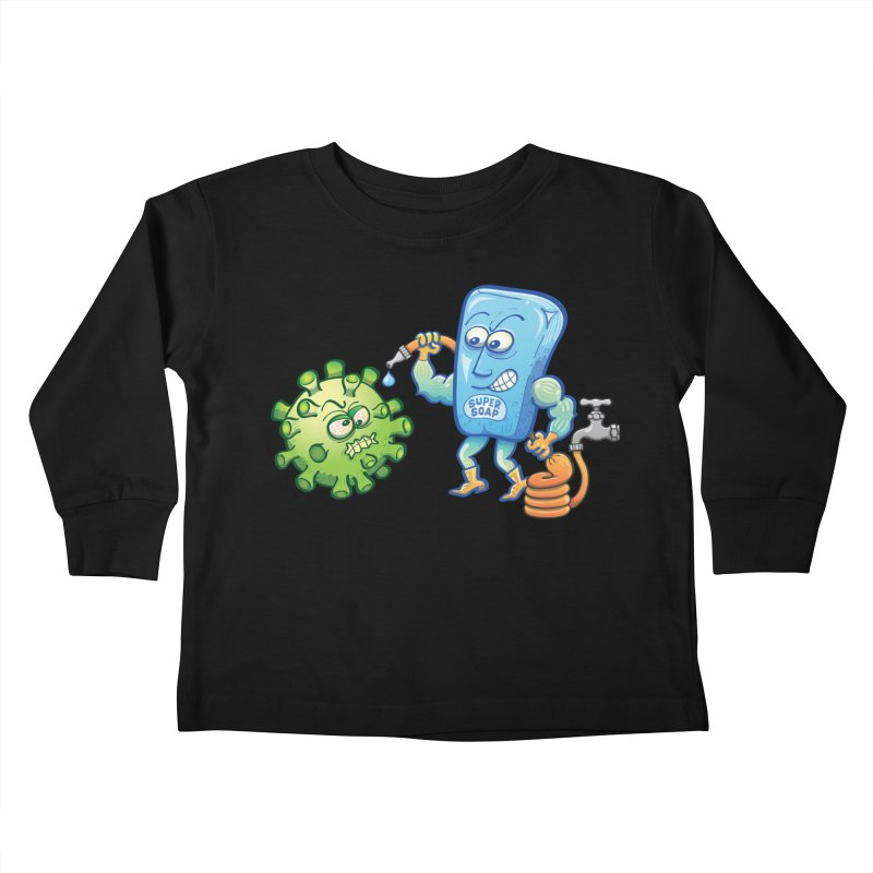 Soap and water are still the best way to fight coronavirus. Wash your hands! Kids Toddler Longsleeve T-Shirt by Zoo&co's Artist Shop