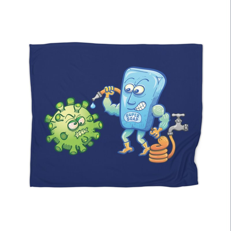 Soap and water are still the best way to fight coronavirus. Wash your hands! Home Blanket by Zoo&co's Artist Shop