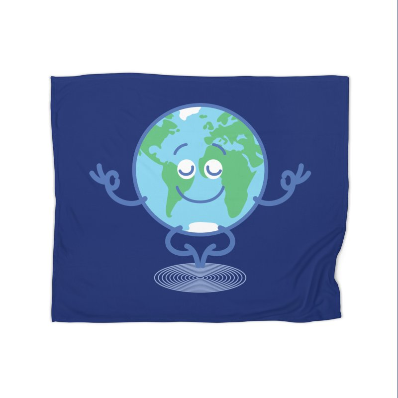 Joyful Planet Earth taking a peaceful time to meditate Home Blanket by Zoo&co's Artist Shop