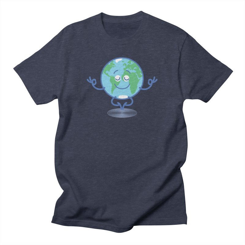 Joyful Planet Earth taking a peaceful time to meditate Women's T-Shirt by Zoo&co's Artist Shop
