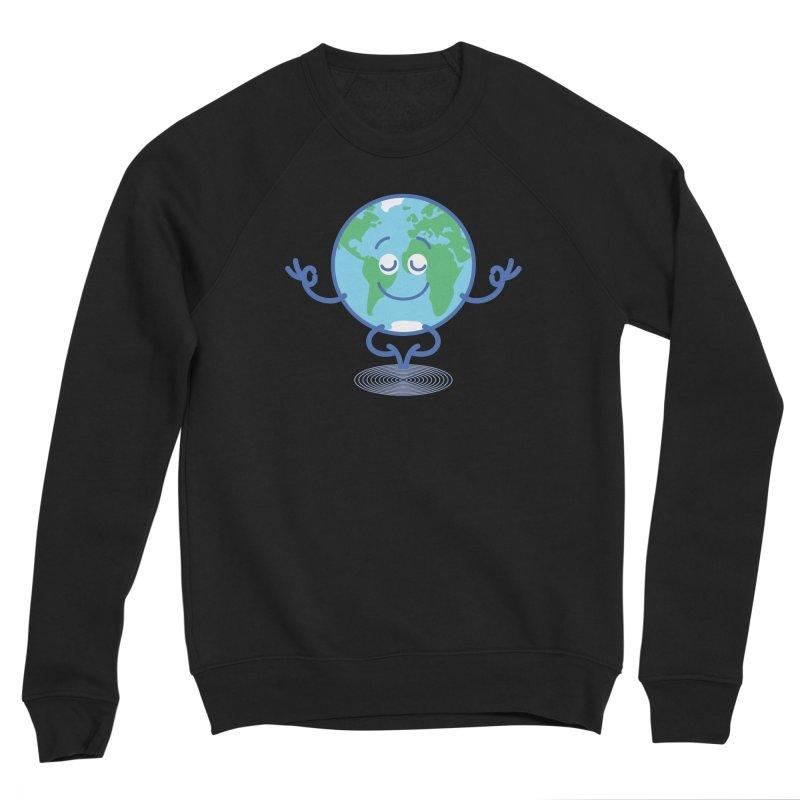 Joyful Planet Earth taking a peaceful time to meditate Men's Sweatshirt by Zoo&co's Artist Shop