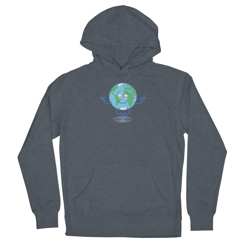Joyful Planet Earth taking a peaceful time to meditate Women's Pullover Hoody by Zoo&co's Artist Shop