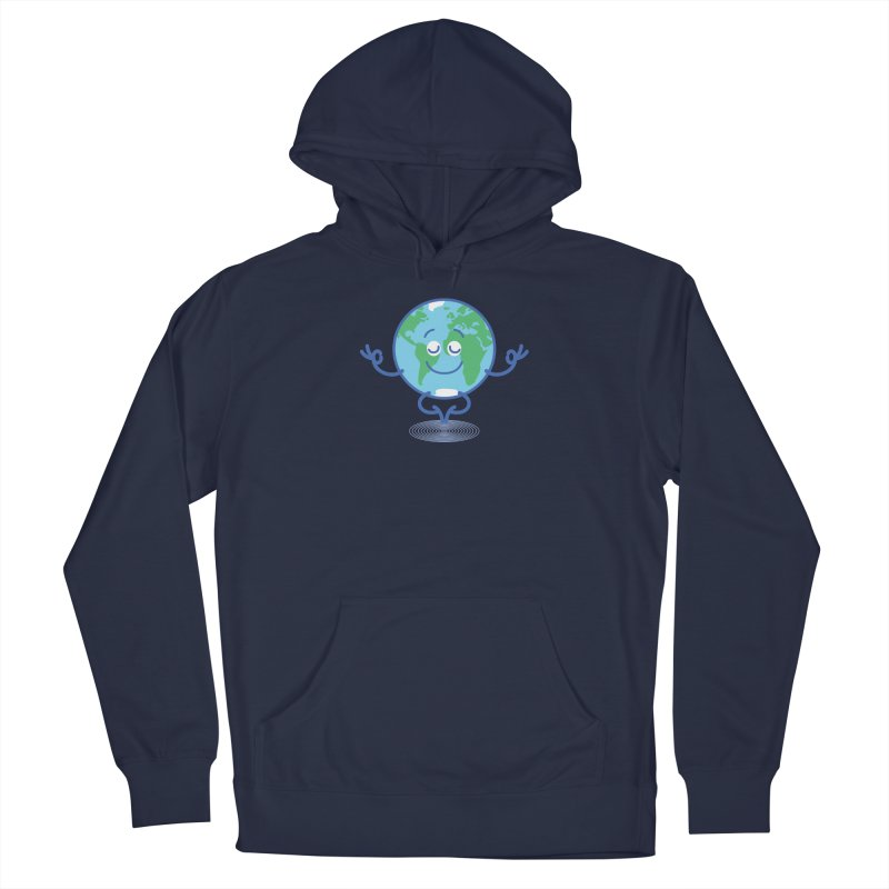 Joyful Planet Earth taking a peaceful time to meditate Men's Pullover Hoody by Zoo&co's Artist Shop