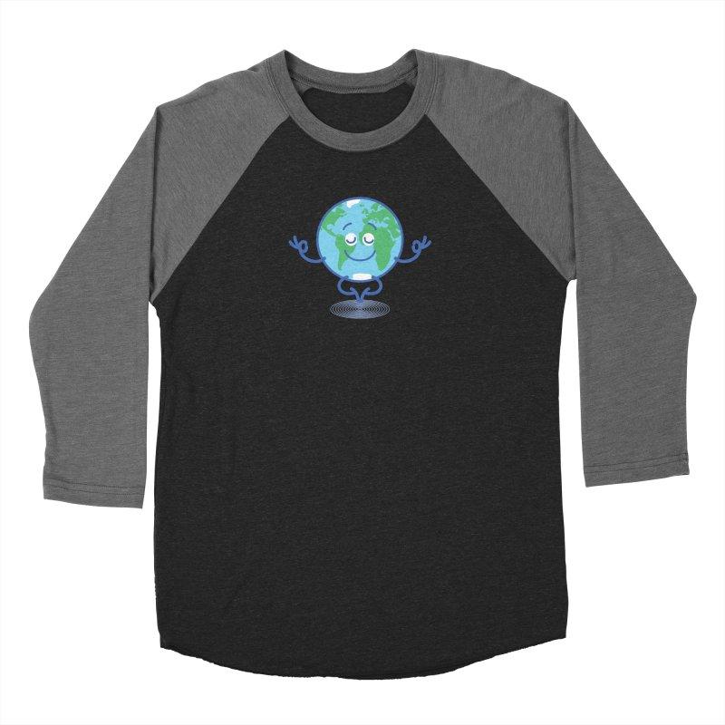 Joyful Planet Earth taking a peaceful time to meditate Men's Longsleeve T-Shirt by Zoo&co's Artist Shop
