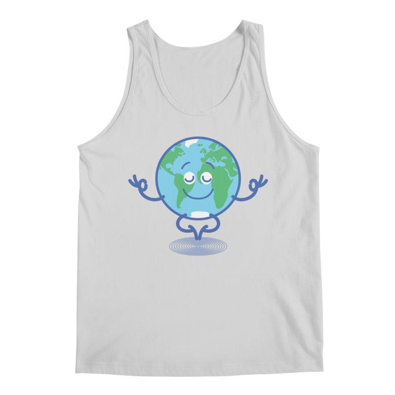 Joyful Planet Earth taking a peaceful time to meditate Men's Tank by Zoo&co's Artist Shop
