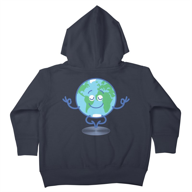 Joyful Planet Earth taking a peaceful time to meditate Kids Toddler Zip-Up Hoody by Zoo&co's Artist Shop