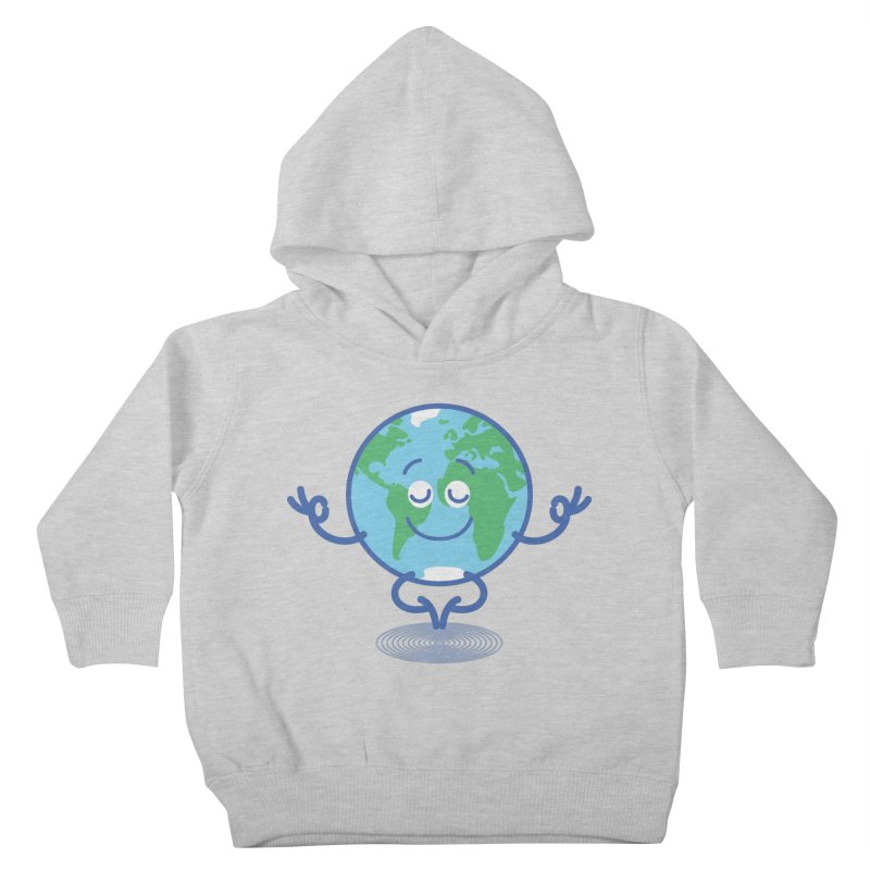 Joyful Planet Earth taking a peaceful time to meditate Kids Toddler Pullover Hoody by Zoo&co's Artist Shop