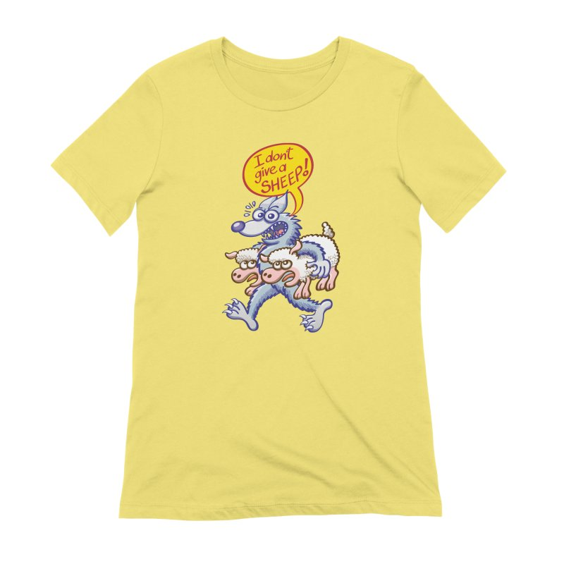 Terrific wolf making puns by saying that he doesn't give a sheep Women's T-Shirt by Zoo&co's Artist Shop