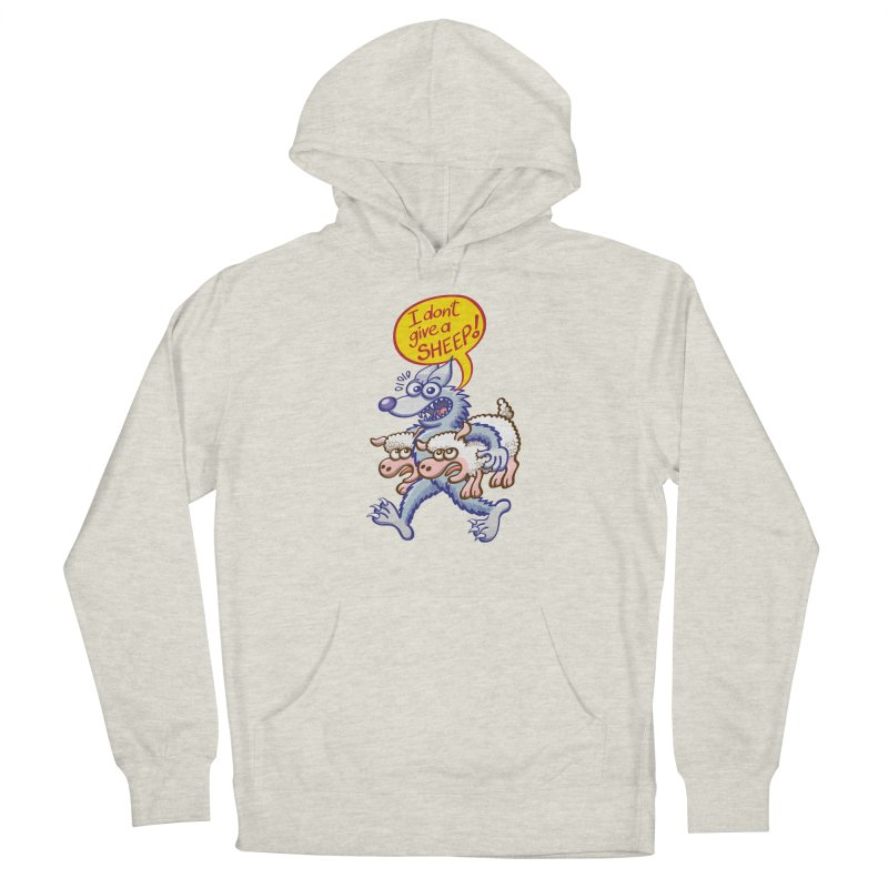 Terrific wolf making puns by saying that he doesn't give a sheep Men's Pullover Hoody by Zoo&co's Artist Shop