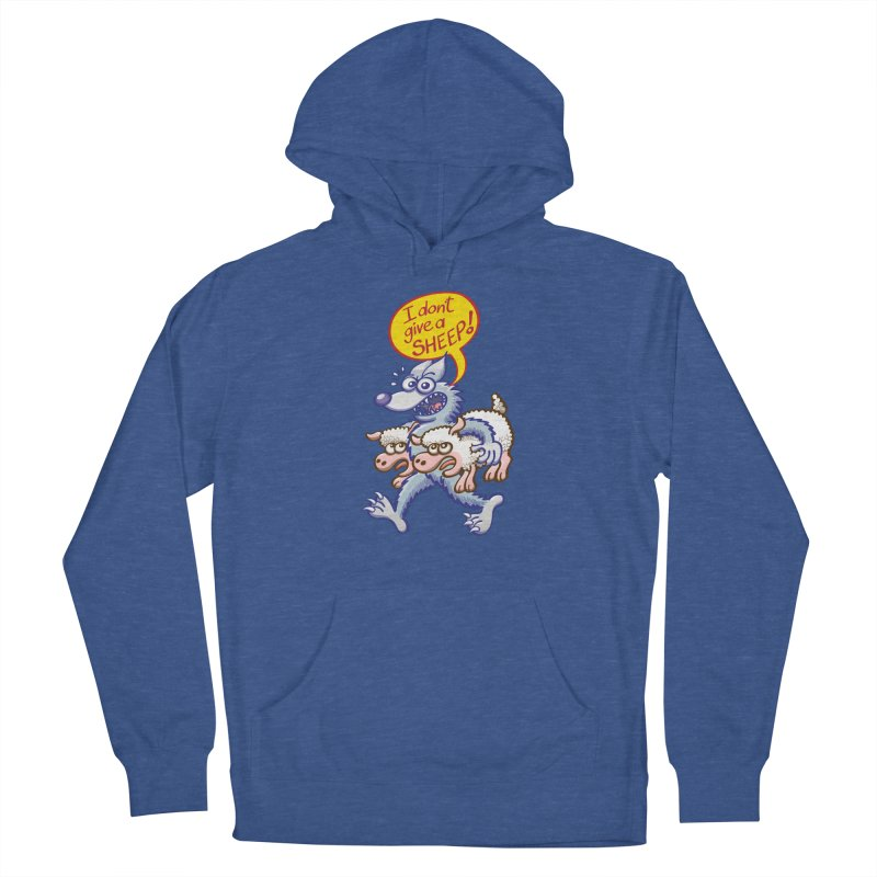 Terrific wolf making puns by saying that he doesn't give a sheep Women's Pullover Hoody by Zoo&co's Artist Shop