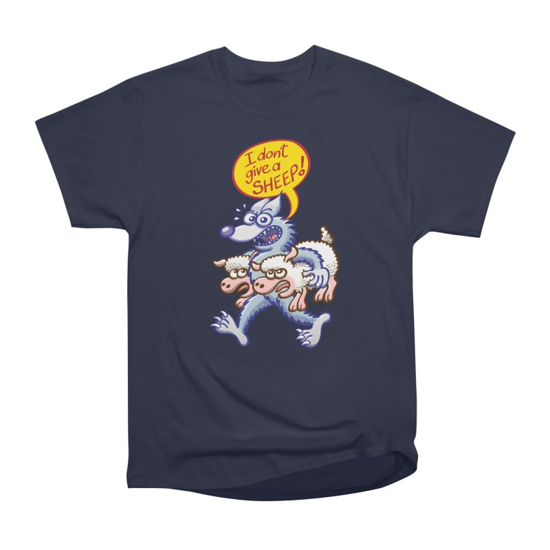 Terrific wolf making puns by saying that he doesn't give a sheep Men's T-Shirt by Zoo&co's Artist Shop